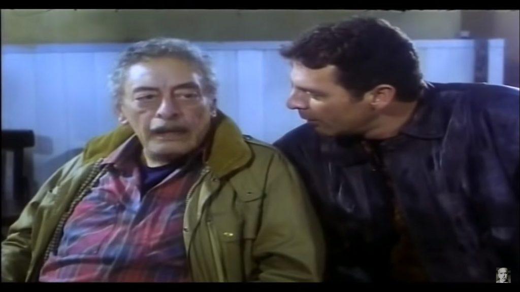 محمود حميدة وجميل راتب في فيلم عفاريت الأسفلت - إخراج أسامة فوزي