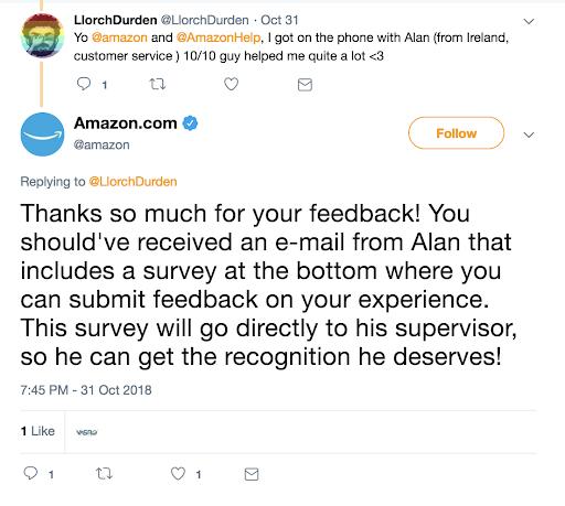 تفاعل شركة «أمازون» مع رأي العملاء