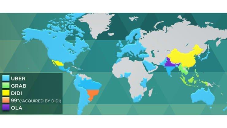 خريطة توضّح استثمارات SoftBank