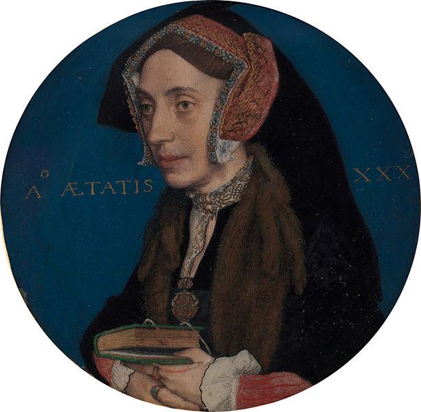 بورتريه منمنم لمارجريت روبر رسمه هانز هولبين الأصغر 1535