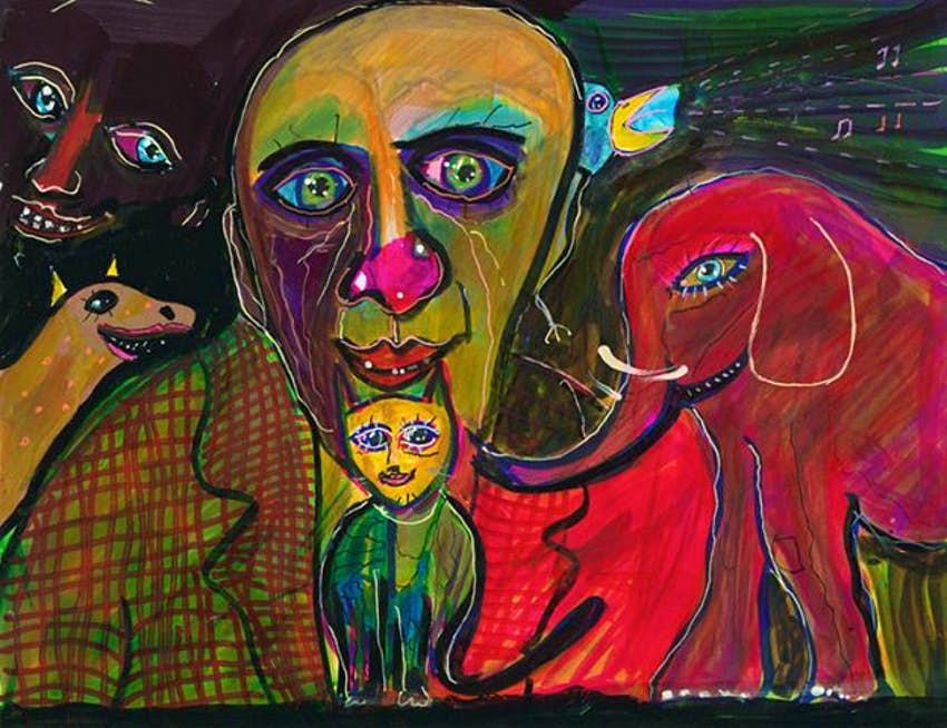 إحدى لوحات أنتوني هوبكنز