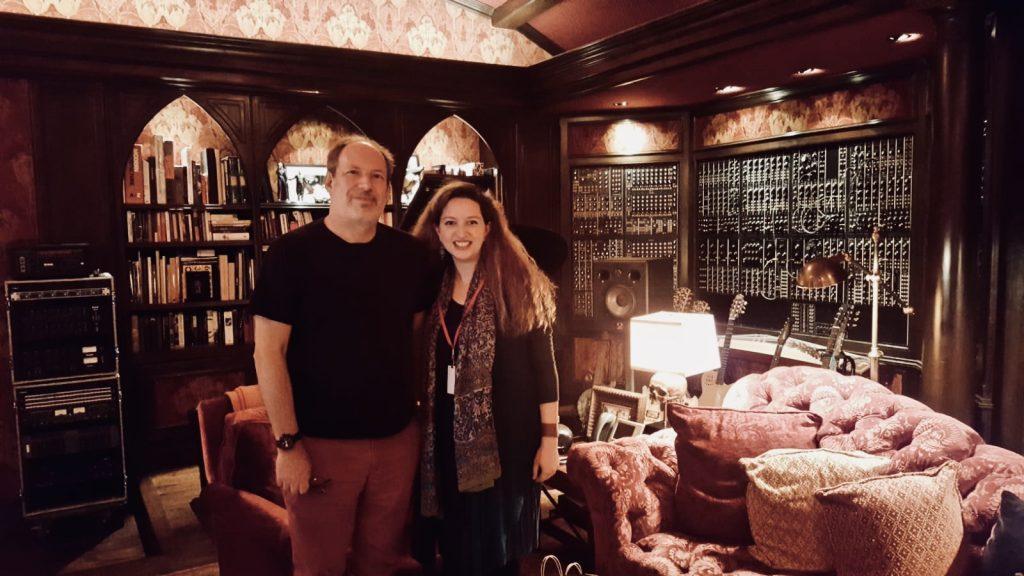 «سعاد بشناق» مع الموسيقي العالمي الشهير «هانز زيمر»