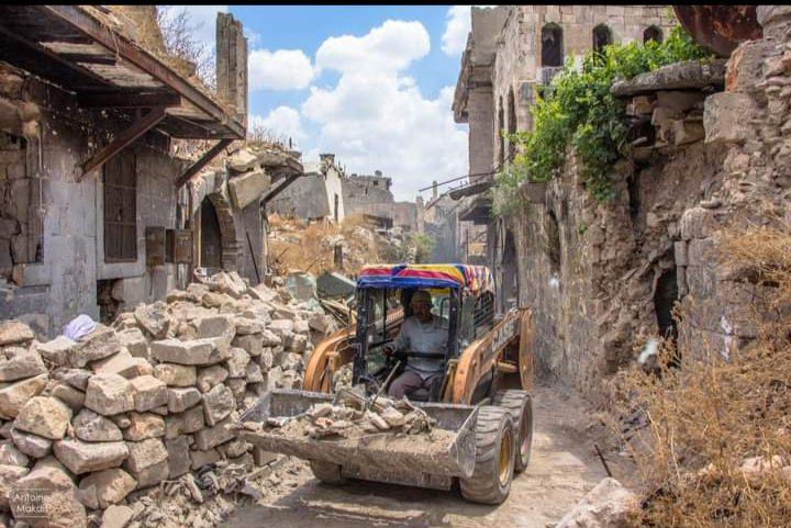 أحد أزقة مدينة حلب