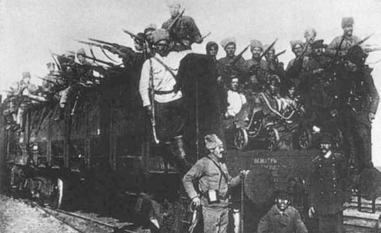 جنود مسلمون ضمن الجيش الأحمر البلشفي